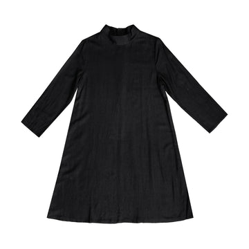 MOCK NECK DRESS - BLACK