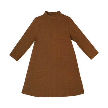 MOCK NECK DRESS - COPPER