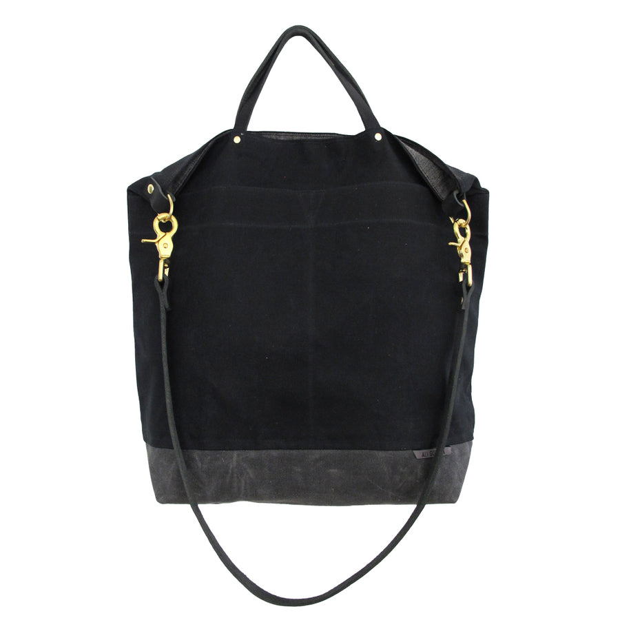 BLACK REVERSIBLE BAG (BLACK STRAP)