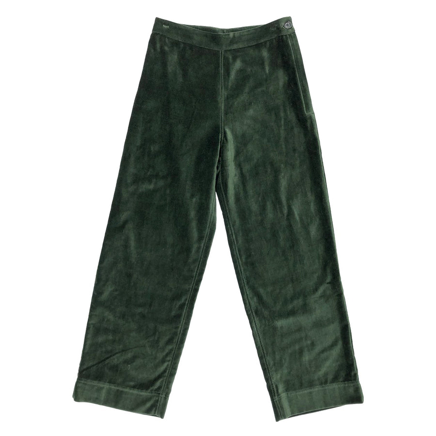 SIDE ZIP PANT - HUNTER VELVETEEN