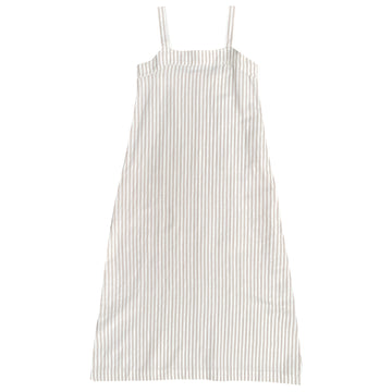 SQUARE DRESS - NATURAL STRIPE