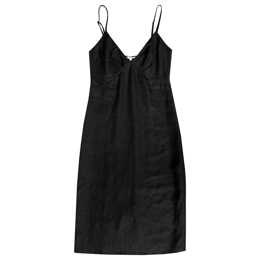 GATHER TOP DRESS - BLACK
