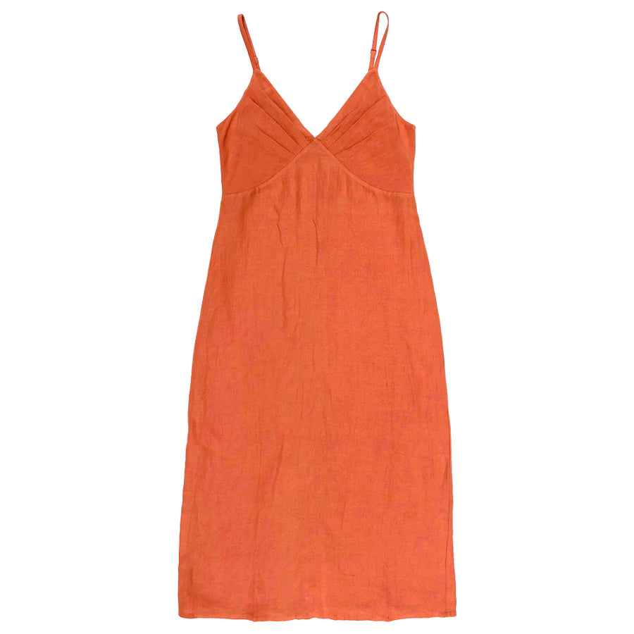 GATHER TOP DRESS - CORAL