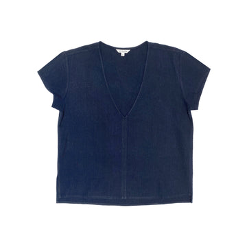 V-NECK TOP - NAVY