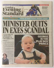 Evening Standard Wed 09 April 2014 Prince George Kate Middleton New Zealand Tour