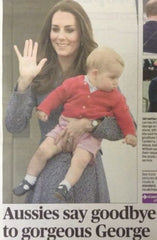 London Evening Standard Newspaper Fri 25 April 2014 Prince George Leaves Oz