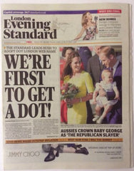 London Evening Standard Wed 16 April 2014 Prince George Kate Middleton