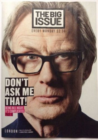 Big Issue Magazine Bill Nighy Daniel Radcliffe Rupert Grint John Torode