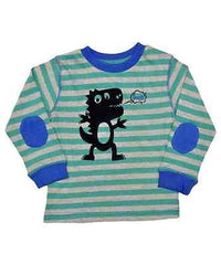 Boys Long Sleeve Tshirt Top Fuzzy Felt Dinosaur Ages 18mths - 5 Years
