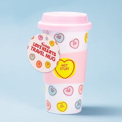 Swizzels Love Hearts Travel Mug (450ml)