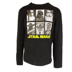 Boys Star Wars Black Long Sleeve Tshirt