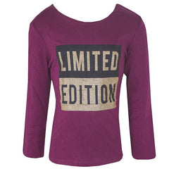 Girls 'Limited Edition' Long Sleeve Tshirt