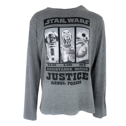 Boys Star Wars Grey Long Sleeve Tshirt