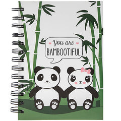 Bambootiful Panda Wirebound Notebook 18cm x 13cm