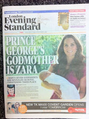Royal Christening Baby George London Evening Standard Wed 23 Oct 2013