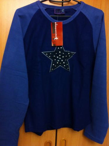 Ladies Fleece Top  Star Design Large