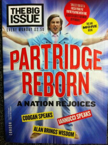 Big Issue Magazine (London Edition) Alan Partridge Steve Coogan 5 Page Interview