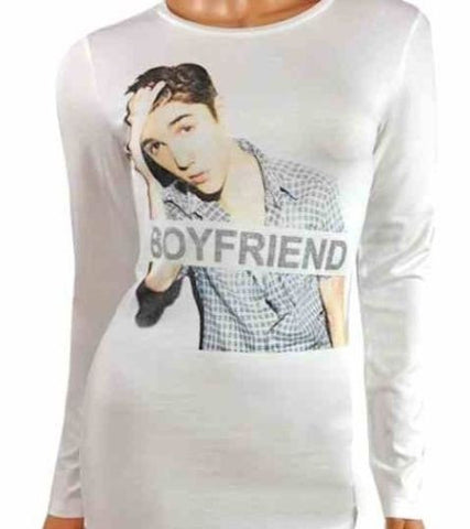 Girls Long Sleeve Top Justin Bieber Ages 7-16