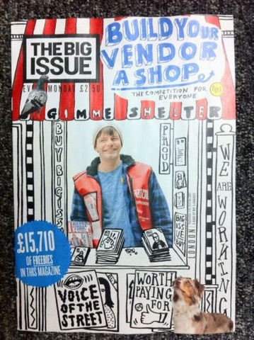 Big Issue Magazine  Build Your Vendor A Shop  Buzz Aldrin  Bill Bailey