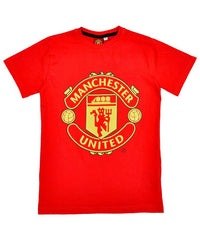 Boys Manchester United Club Logo Tshirt