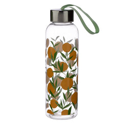 Oranges 500ml Reusable Water Bottle with Metallic Lid