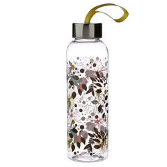 Botanical Wisewood 500ml Reusable Water Bottle with Metallic Lid