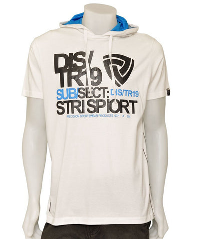Mens Hooded Tshirt ~ Urban Spirit ~ White