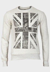 Mens Union Jack Print Sweatshirt