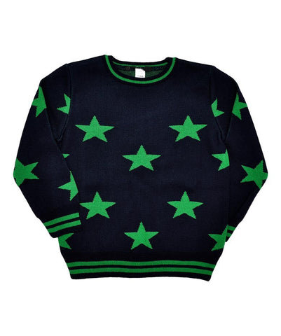 Boys Navy / Green Stars Jumper