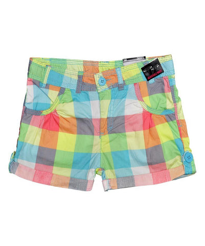 Girls Lightweight Multi-Coloured Check Shorts ~ Ages 8-15+
