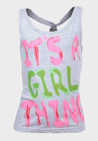 Soul & Glory Girls Vest Top - It's a Girl Thing Ages 7-13