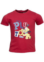 Boys Disney Baby Pluto T-Shirt Red Ages 12mths - 30mths
