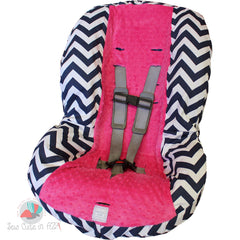 Black Chevron Toddler Car Seat Cover