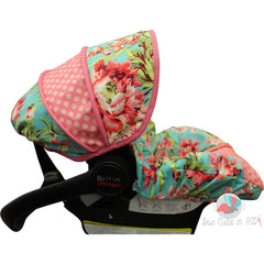 Love Bliss Teal Infant Car Seat Cover