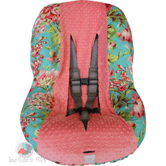 Love Bliss Teal Toddler Car Seat Cover