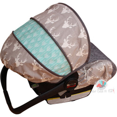 Buck Forest Grey Infant Car Seat Cover