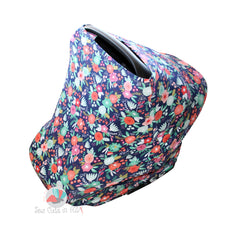 Car Seat Cozy™- Navy Floral