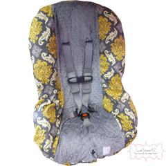 Granite Damask Toddler Car Seat Cover