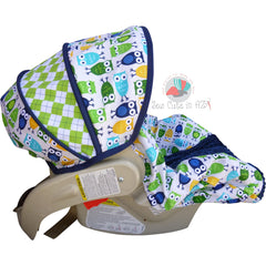 Pool Owls Infant Car Seat Cover