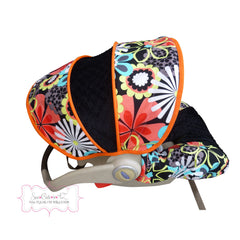 Flower Shower Clementine Infant Car Seat Cover