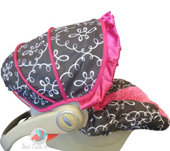 Doodle Damask Infant Car Seat Cover
