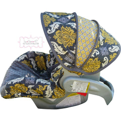 Granite Damask Infant Carseat Cover