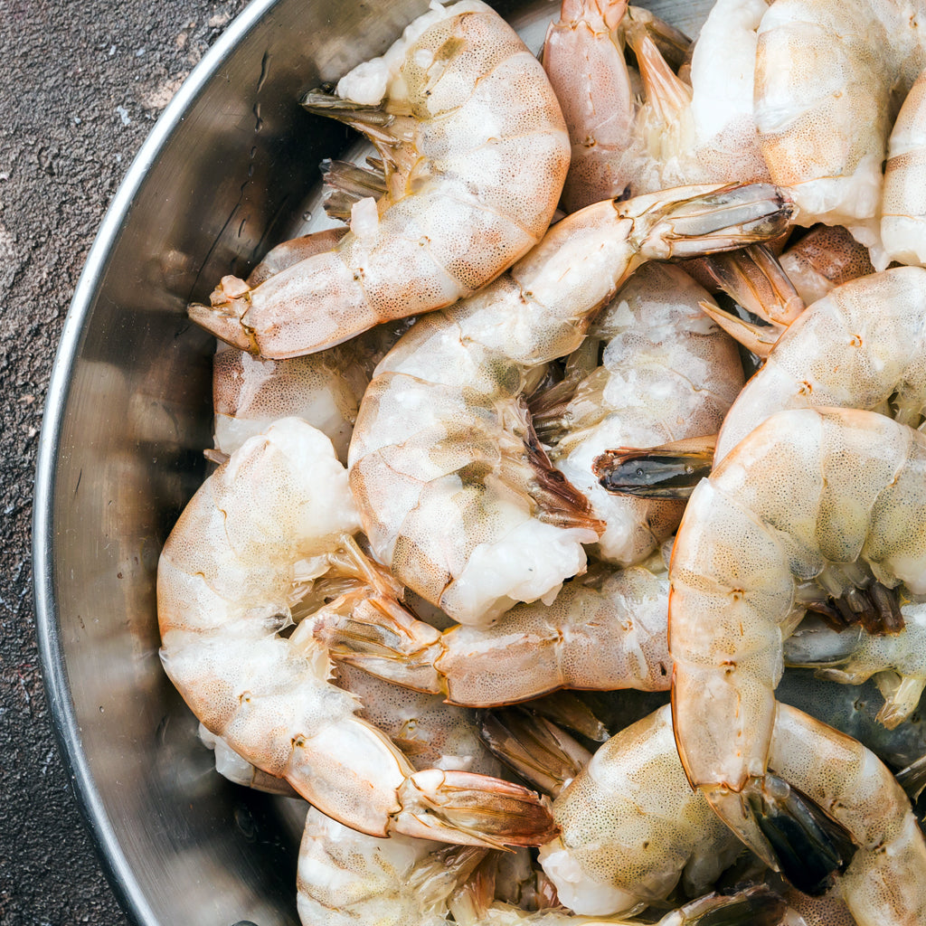 Raw White Shrimp Shell On