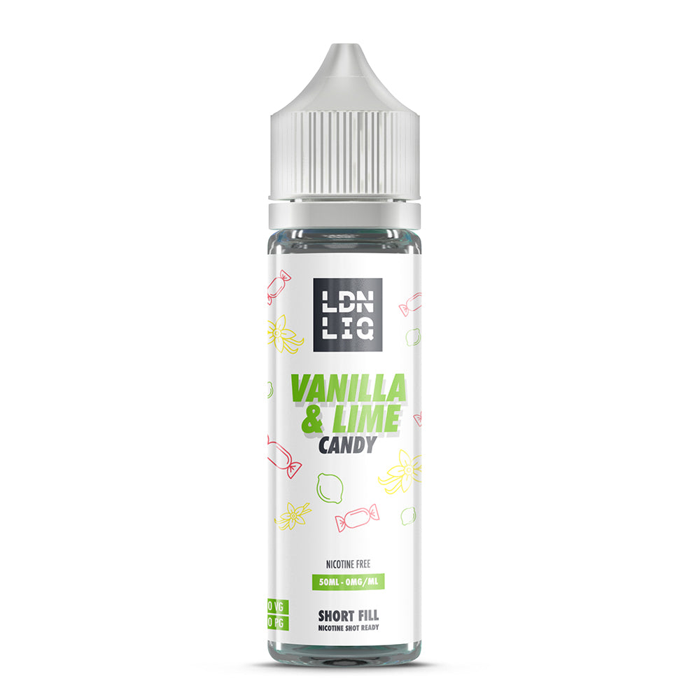 LDN LIQ Vanilla & Lime Candy 50ml Short Fill E-Liquid