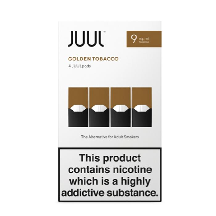 Juul Pods Golden Tobacco x 4 Replacement Pods 9mg