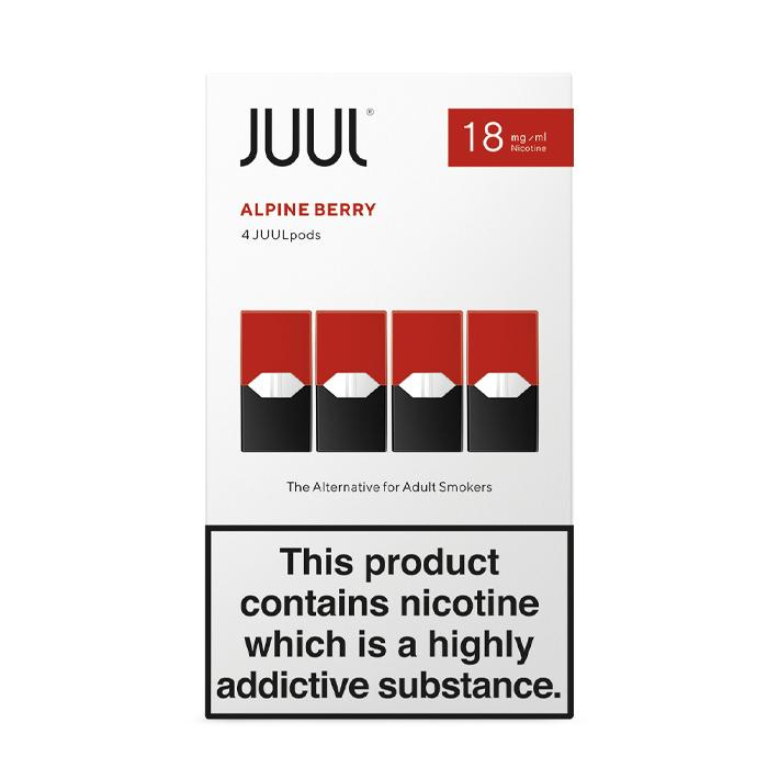 Juul Pods Alpine Berry x 4 18 mg Nicotine Salt E liquid Pods