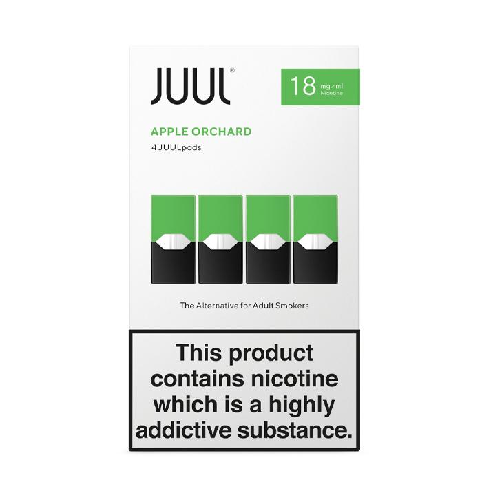 Juul Pods Apple Orchard x 4 18mg nicotine strength