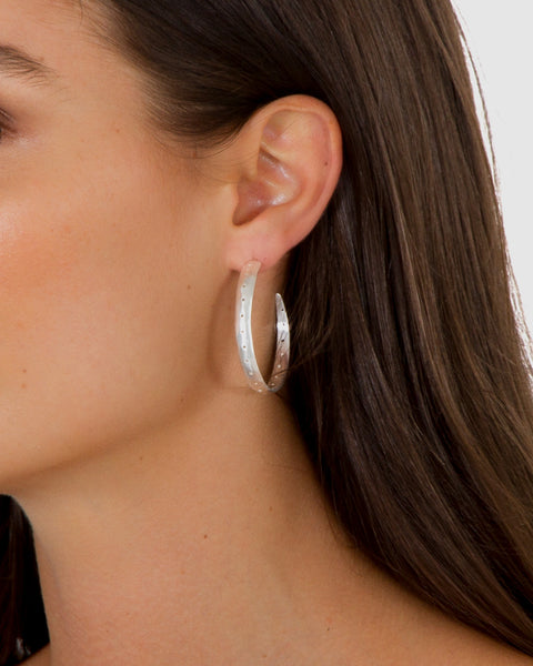 CHUNKY HOOPS - SILVER