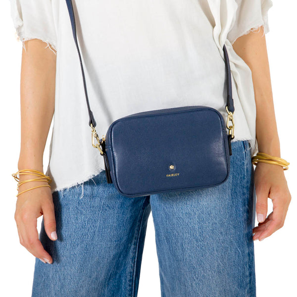 NAVY CROSS BODY BAG