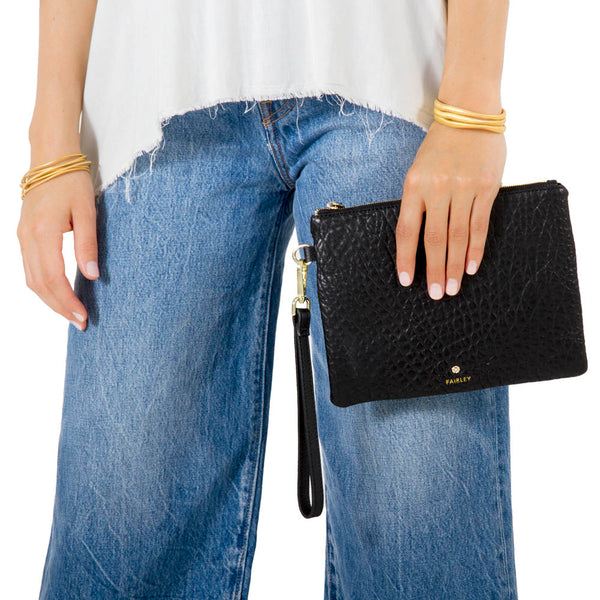 MIDNIGHT TEXTURED CLUTCH